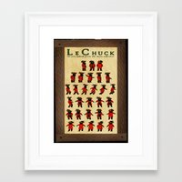 monkey island Framed Art Prints featuring Monkey Island - LeChuck's Moves by Sberla