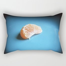 Orange On Blue Rectangular Pillow