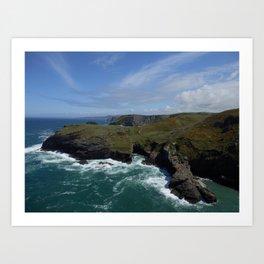 Cornish Coast Art Print