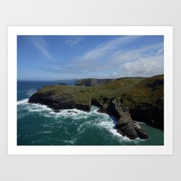 Cornish Coast Art Print
