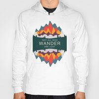 utah Hoodies featuring Wandering Utah by StateofMindDesign