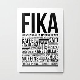 Fika Love definition bakery coffee Metal Print