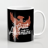 dumbledore Mugs featuring Great Adventure by WEAREYAWN