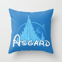 thor Throw Pillows featuring Thor by Charleighkat