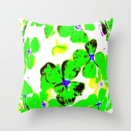 Floral Easter Egg Throw Pillow
