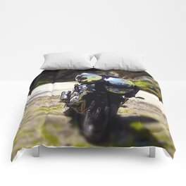 excursion by motorcycle Comforters