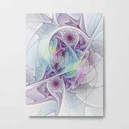 Colorful and Lively, Abstract Fractal Art Metal Print