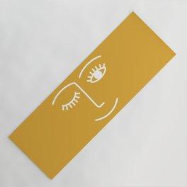 wink / mustard Yoga Mat