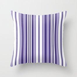 Pacific Stripe: Dusty Lavander Throw Pillow