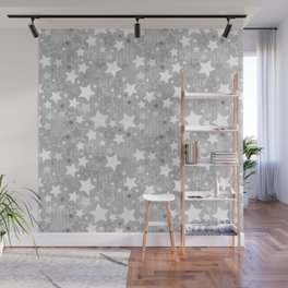 Stars Christmas pattern Wall Mural