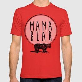 Mama Bear, Bear and Circle Moon Graphic T-shirt