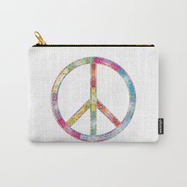 flourish decorative peace sign Carry-All Pouch