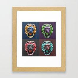 Lion Knockers Framed Art Print
