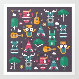 Woodland Animals | Season 1 Art Print