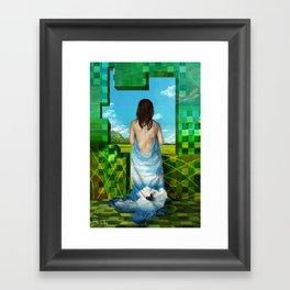 Ponto Máximo: a felicidade Framed Art Print