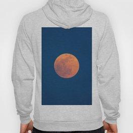 Red Moon, Moon, Blue Sky And Orange Hoody