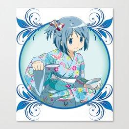 Sayaka Miki - Yukata edit. Canvas Print