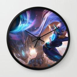 Super Galaxy Nidalee Splash Art Wallpaper Background Official Art Artwork League of Legends lol Wall Clock