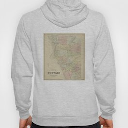 Vintage Map of Buffalo NY (1866) Hoody