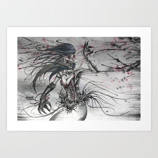 A Reality Through Fatality Art Print