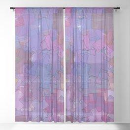 colorful crosses Sheer Curtain