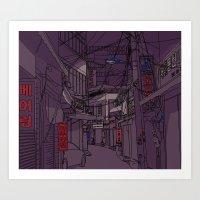 seoul Art Prints featuring Seoul  by Confetti Guillemetti