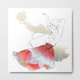Dancing in the poppies Metal Print