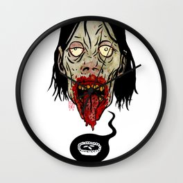 Deep Zombie Thoughts Wall Clock