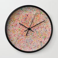 sprinkles Wall Clocks featuring Sprinkles by Candy Circles