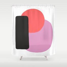 Cherry Equilibrium Shower Curtain