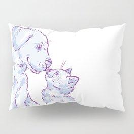 Love cat and dog Pillow Sham