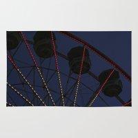ferris wheel Area & Throw Rugs featuring Ferris Wheel  by Yellow Tie