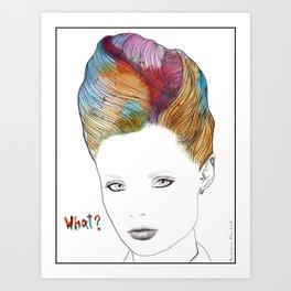 What? Art Print