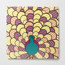 Colorful turkey Metal Print