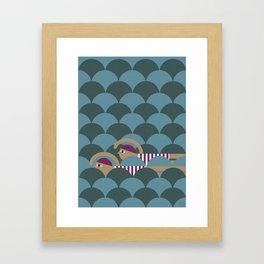 Swimmers Framed Art Print