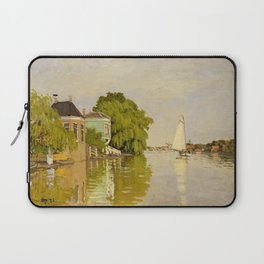 Claude Monet - Houses on the Achterzaan (1871) Laptop Sleeve