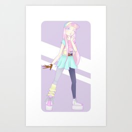Pastel Days Art Print