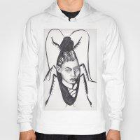 kafka Hoodies featuring Franz Kafka--Author Portrait Metamorphosis by Wicked Ink