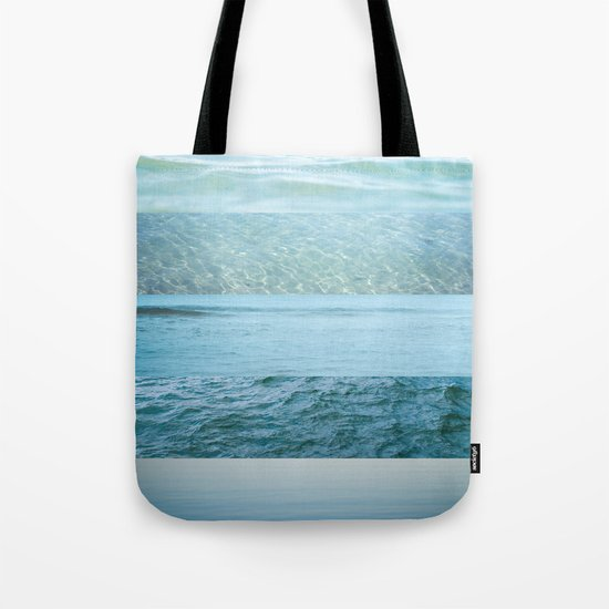 Water Study abstract blue waves Tote Bag