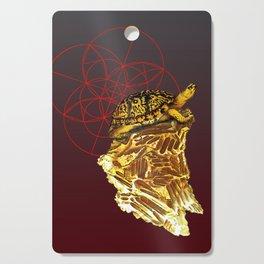 Golden Fluorite Turtle Cutting Board