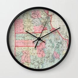 Vintage Map of Rhode Island (1887) Wall Clock