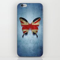 union jack iPhone & iPod Skins featuring union & jack by Steffi Louis