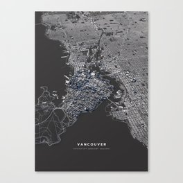 Vancouver city map Canvas Print