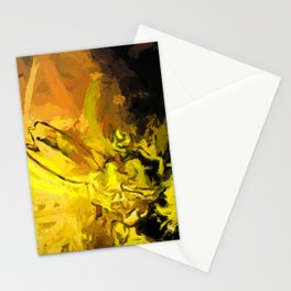 Yellow Lily Golden Light Flower Falling Star Stationery Cards