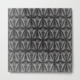 Checkers Black and White Metal Print