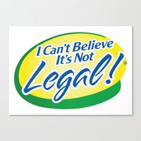cannabis Canvas Prints featuring Legalize Cannabis by WeedPornDaily