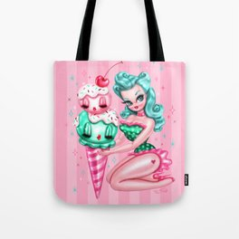 Ice Cream Pinup Doll Tote Bag