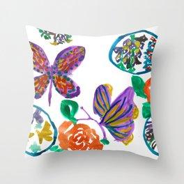 Floral medley Throw Pillow