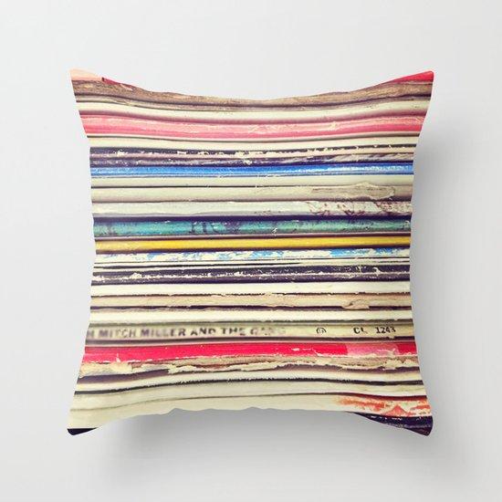 Vinyl II  Throw Pillow