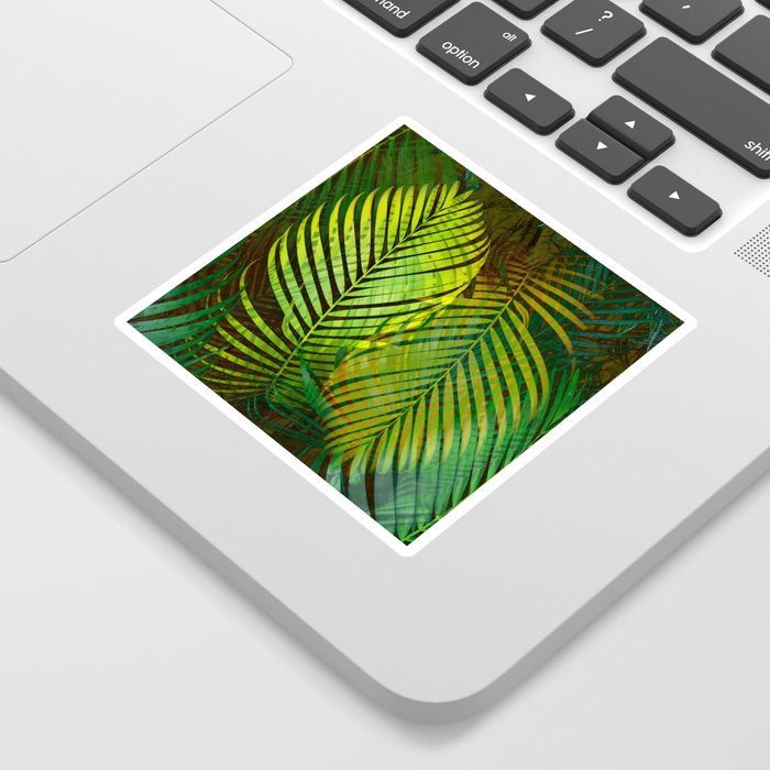 TROPICAL GREENERY LEAVES Sticker